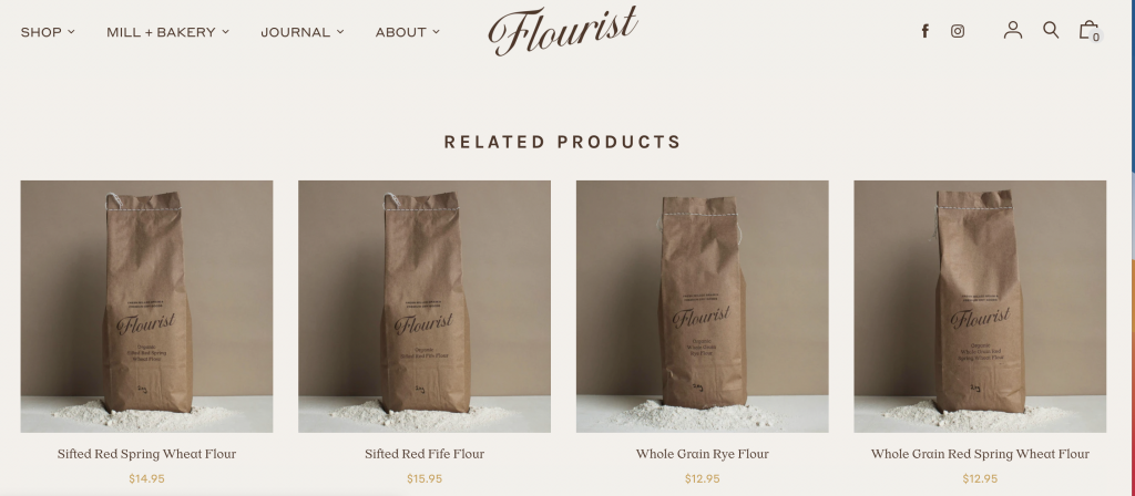 Flourist Shopify Cross Selling Example